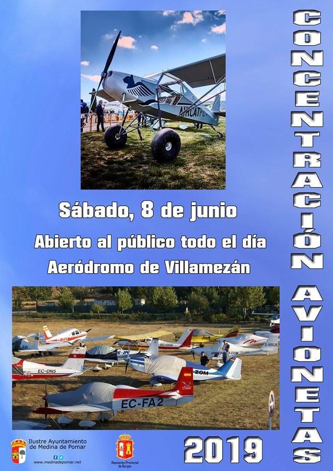 Concentración aeronautica en el aeródromo de Villamezán