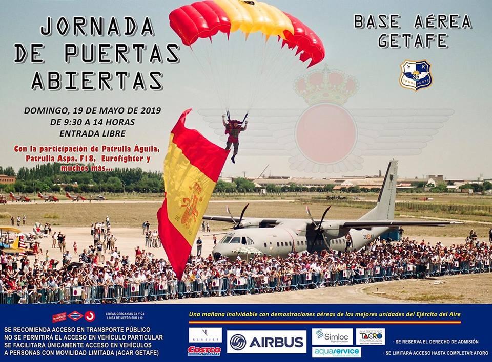 Jornada de puertas abiertas en la Base Aérea de Getafe