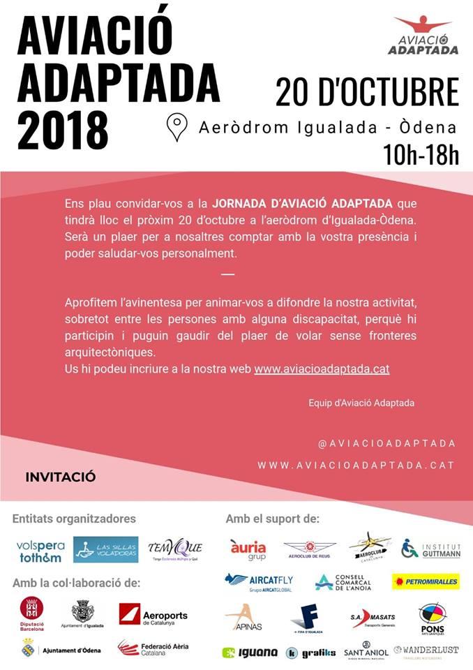 Jornadas de aviación adaptada volar sin barreras arquitectónicas en Igualada