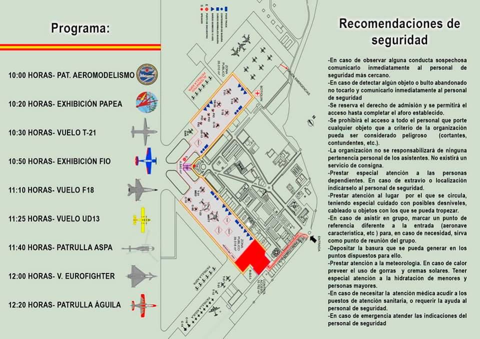 Programa Jornada de puertas abiertas en la Base Aérea de Getafe
