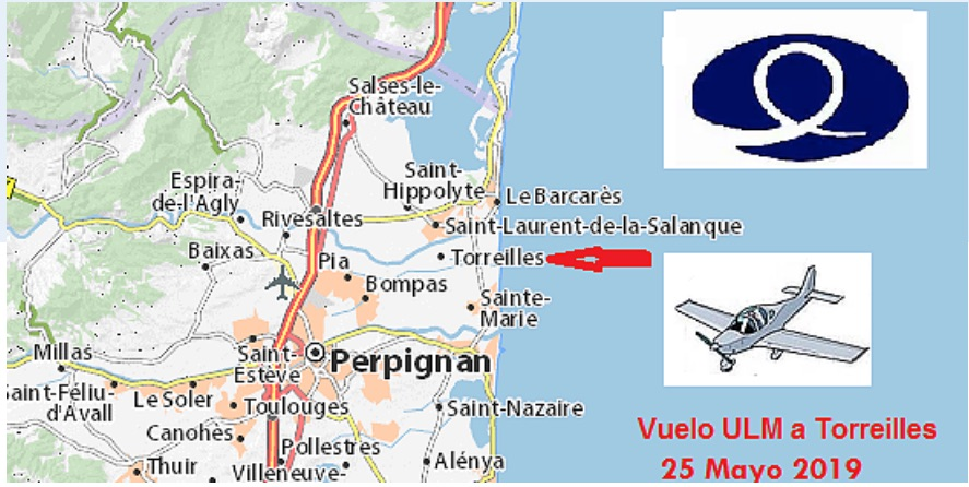 Vuelo ULM a Torreilles 2019