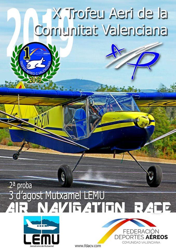 Aeródromo Mutxamel LEMU Prueba TACV 2019 ANR-Air Navigation Race