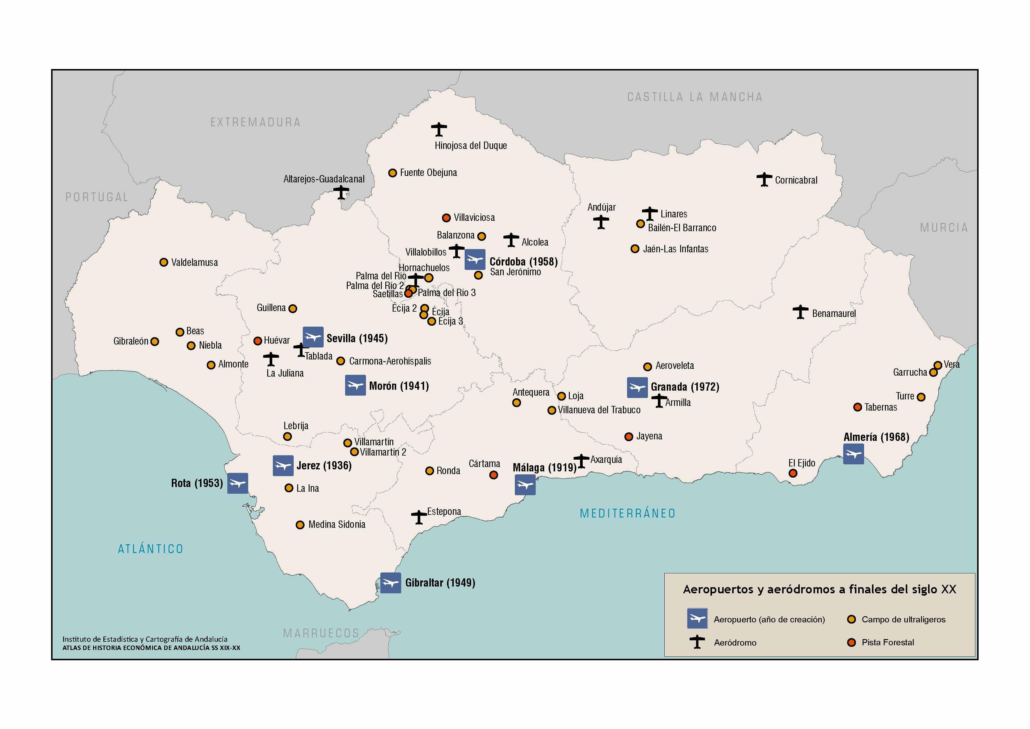 Aeródromos siglo XX Andalucía
