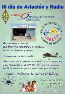 Aviación y radio en el aeródromo de Gurrea