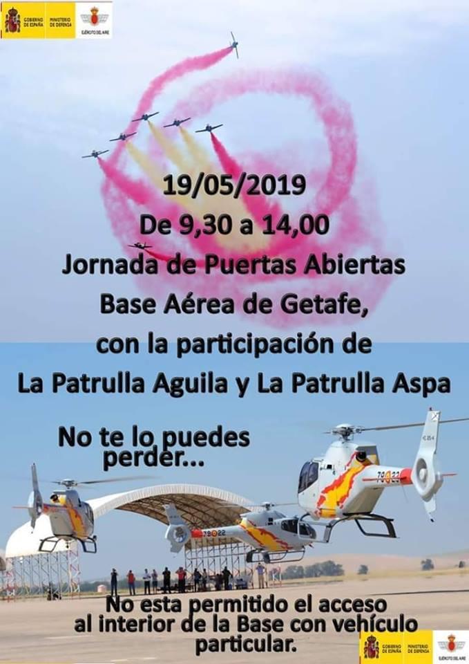 Jornada de puertas abiertas en la Base Aérea de Getafe.